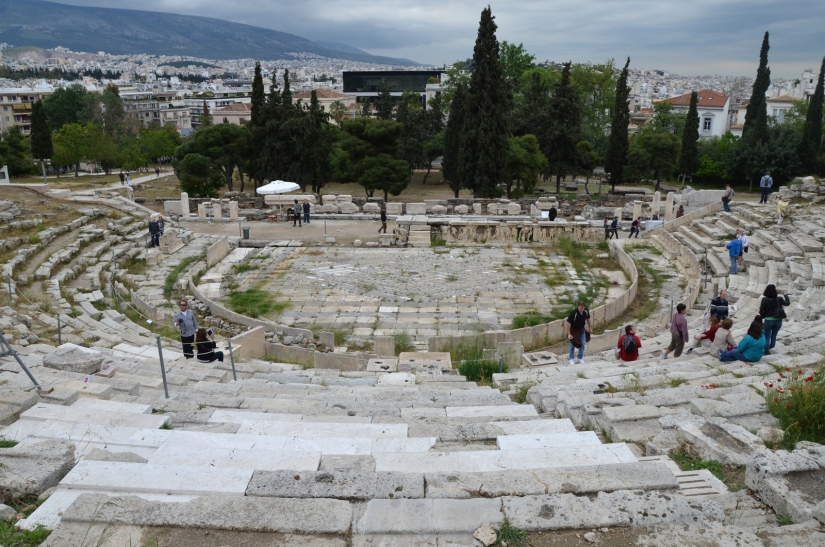 The Theatre of Dionysus on the south slope of the Acropolis, Athens