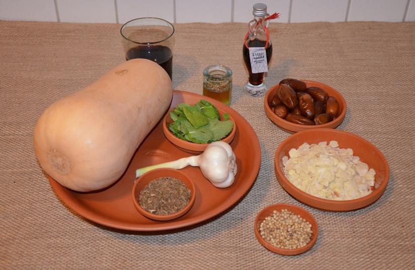 Ingredients: Cucurbitas more Alexandrino (Alexandrine Squash), Apicius, De Re Coquinaria 3,4,3