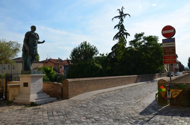 Roman bridge over the Rubicon river on the Via Aemilia, Savignano sul Rubicone, Italy