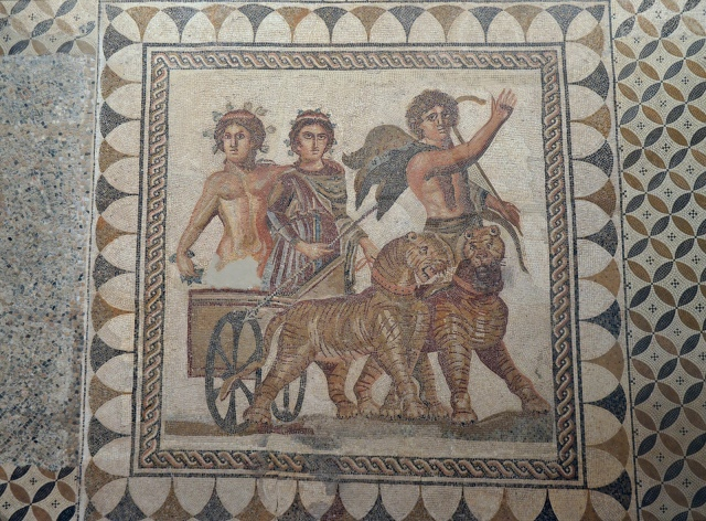 Mosaic of the Triumph of Bacchus, 3rd century AD, from Ecija (Roman Astigi), Museum of Archaeology, Seville