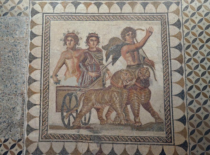 Mosaic of the Triumph of Bacchus, 3rd century AD, from Ecija (Roman Astigi), Museum of Archaeology, Seville
