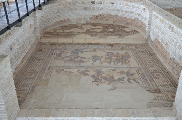 Mosaic depicting The Triumph Bacchus, 3rd-4th century CE. Image © Carole Raddato. Baetica mosaics.