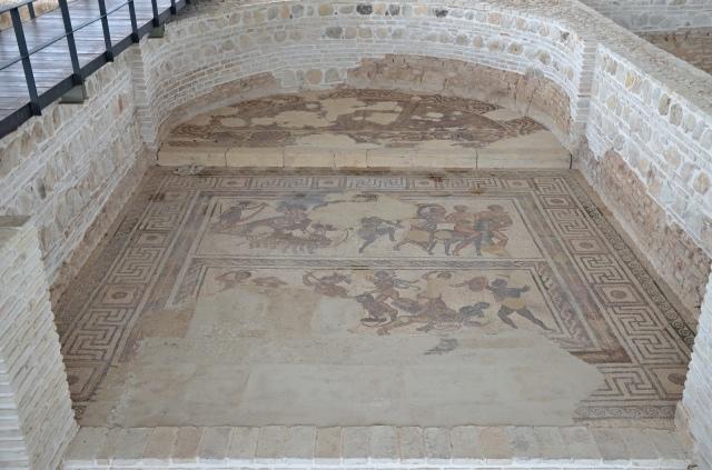 Mosaic depicting The Triumph Bacchus, 3rd-4th century CE. Image © Carole Raddato. Baetica mosaics.