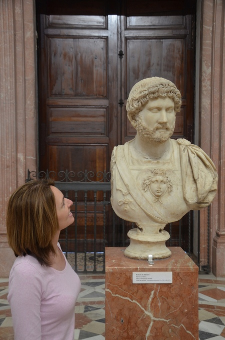 Me and Hadrian at the Archaeological Museum of Seville in February 2016. Image © Carole Raddato.