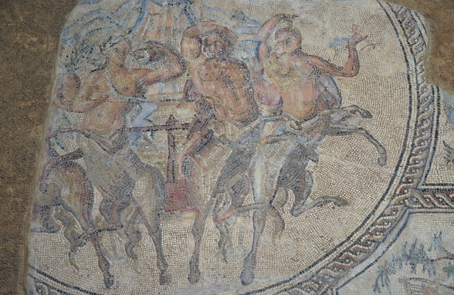 Mosaic of the Triumph of Bacchus, found in Écija in Plaza de Santiago. Created in the second half of 2nd century AD. Now housed in the Museo Histórico Municipal de Écija. Image © Carole Raddato. Baetica mosaics.