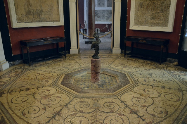 The Octogonal Room paved with a mosaic which previously had a fountain at its centre, it is thought to date from the Hadrianic period, Palacio Lebrija, Seville