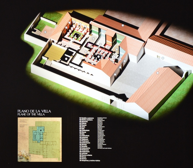 Plan of the Villa del Alcaparral, Mosaic Museum, Casariche