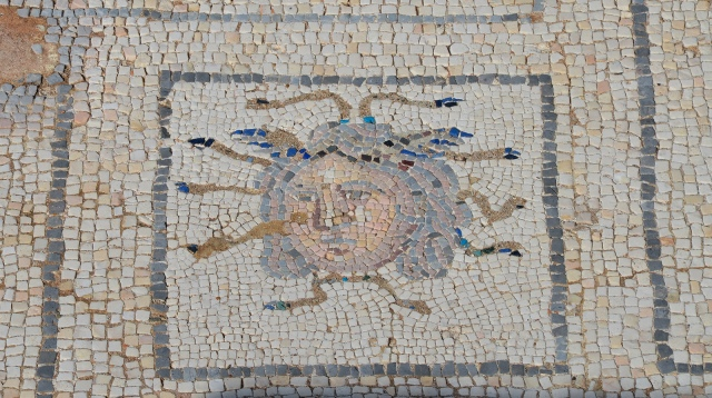 Mosaic detail with head of Medusa, Domus of the Birds, Italica