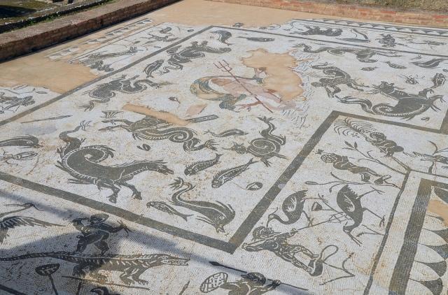 Mosaic of Neptune, House of Neptune, Italica. Image © Carole Raddato.