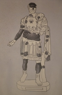 Fragments of a cuirassed statue of Hadrian found in the Roman theatre of Ancyra (Ankara), Museum of Anatolian Civilizations, Ankara