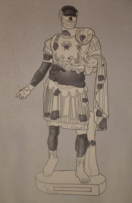 Fragments of a cuirassed statue of Hadrian found in the Roman theatre of Ancyra (Ankara), Museum of Anatolian Civilizations, Ankara. Photo © Carole Raddato.
