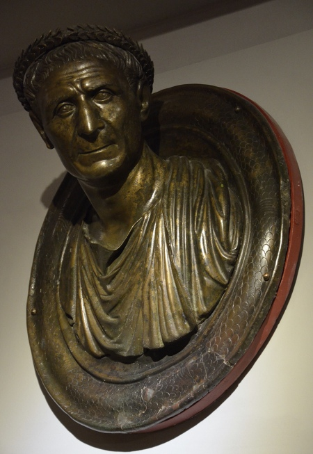 Round todo with bust of Ulpius Aelius Pompeianus, the Agonothetes of the sacred games of Ancyra, Hadrianic period (117-138 CE), discovered in the 1950s during foundation excavations in Ankara, Museum of Anatolian Civilizations, Ankara. Photo © Carole Raddato.