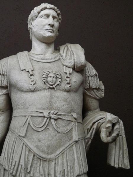 Hadrian Statue from Troia IX (BC 85 AD 450), found in the Odeon, Troy (Ilium), Canakkale Museum Turkey. Photo © Carole Raddato.