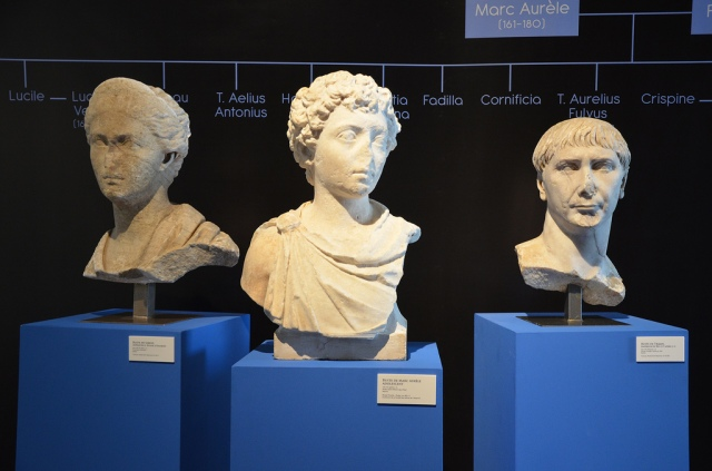 Busts at the exhibition. Image © Carole Raddato.