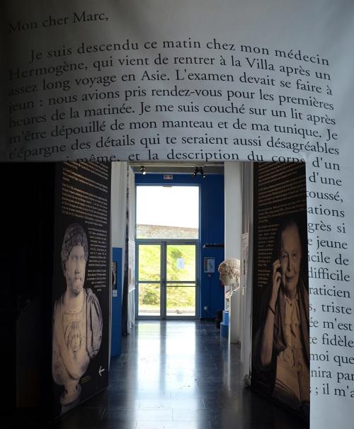 Hadrian and Marguerite Yourcenar. Image © Carole Raddato.