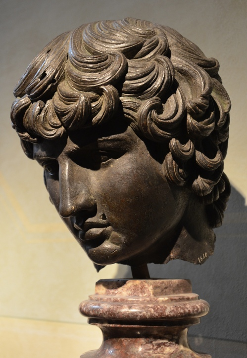Renaissance copy of a bronze head of Antinous, probably executed at the time of Cosimo I before 1574, National Archaeological Museum of Florence, Italy. Marguerite Yourcenar