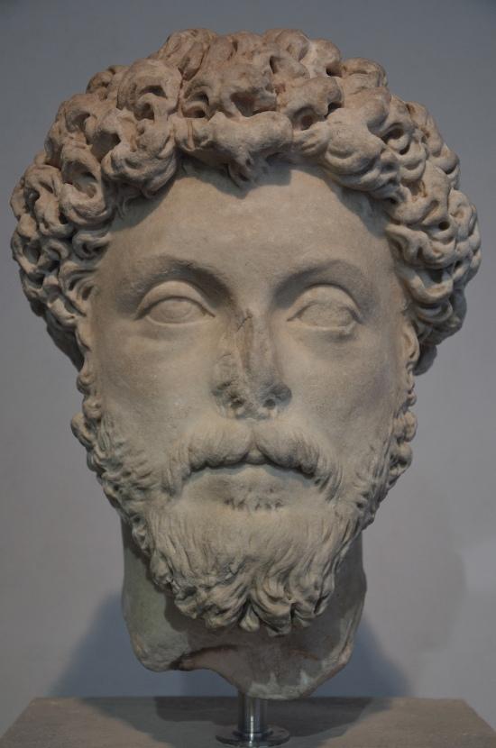 Portrait of Marcus Aurelius, from Hadrian's Villa, 160-169 AD. Palazzo Massimo alle Terme, Rome