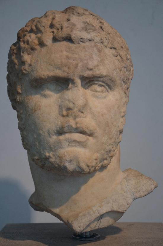 Portrait of Caracalla, from Hadrian's Villa at Tivoli. Palazzo Massimo alle Terme, Rome