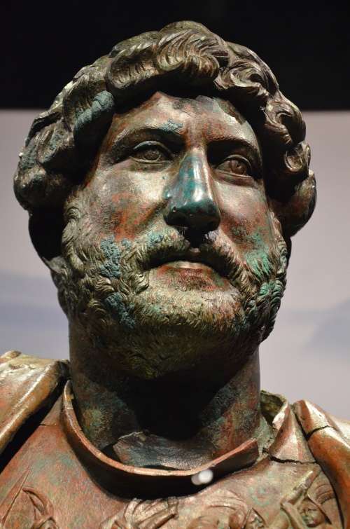 Bronze statue of Hadrian, found at the Camp of the Sixth Roman Legion in Tel Shalem. Hadrian: An Emperor Cast in Bronze, Israel Museum.