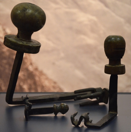 House keys made of iron and wood found in the Cave of Letters in the Judean Desert, 132-138 AD. Hadrian: An Emperor Cast in Bronze, Israel Museum