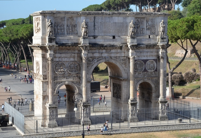 The North side of the Arch of Constantine, Rome.