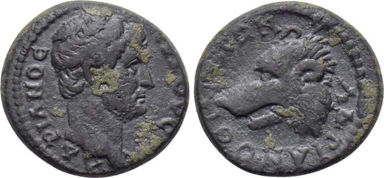 Coin of Hadrian minted in Hadrianotherae, Mysia (117-138 AD)>