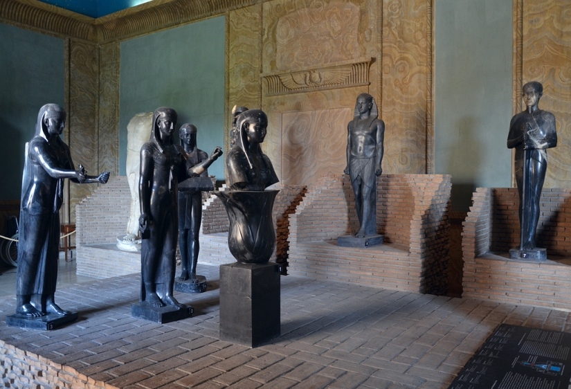 Egyptianizing sculptures from the Antinoeion at Hadrian's Villa, 131-138 AD.