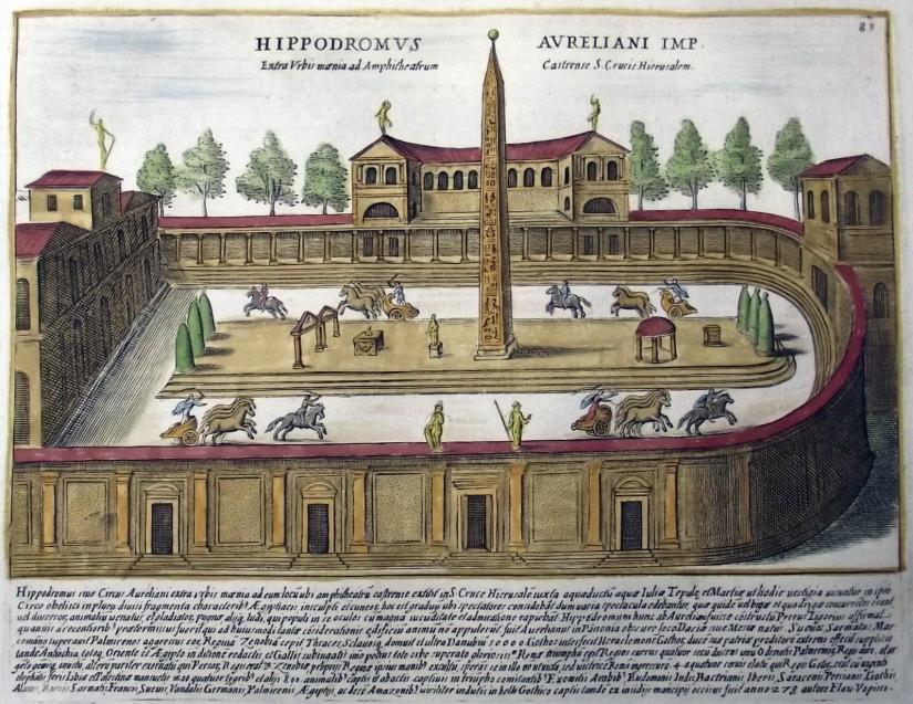 Roma: 1627. Folio, handcolored engraving (28 x 20.5 cm) by Giacomo Lauro (1550-1605) from Antiquae urbis splendor - See more at: http://www.borgantiquarian.com/pages/books/384/print-lauro-roman-colosseum/gladiatorial-combat-in-the-colosseum#sthash.5HLoUs1I.dpuf