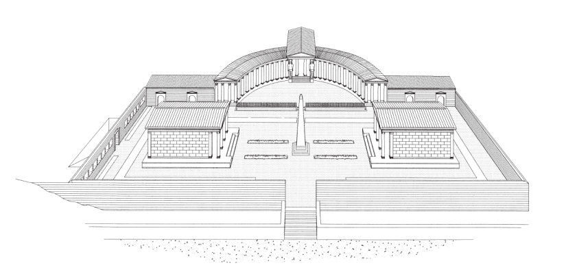 Hypothetical reconstruction of the Temple complex. ggg