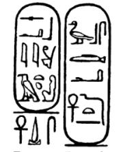 Cartouche of Sabina. The Obelisk of Antinous