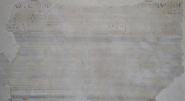The inscription of the collegium of Diana and Antinous in Lanuvium, 136 AD.
