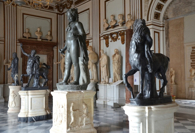 The Furietti Centaurs on display in Palazzo Nuovo of the Capitoline Museums.