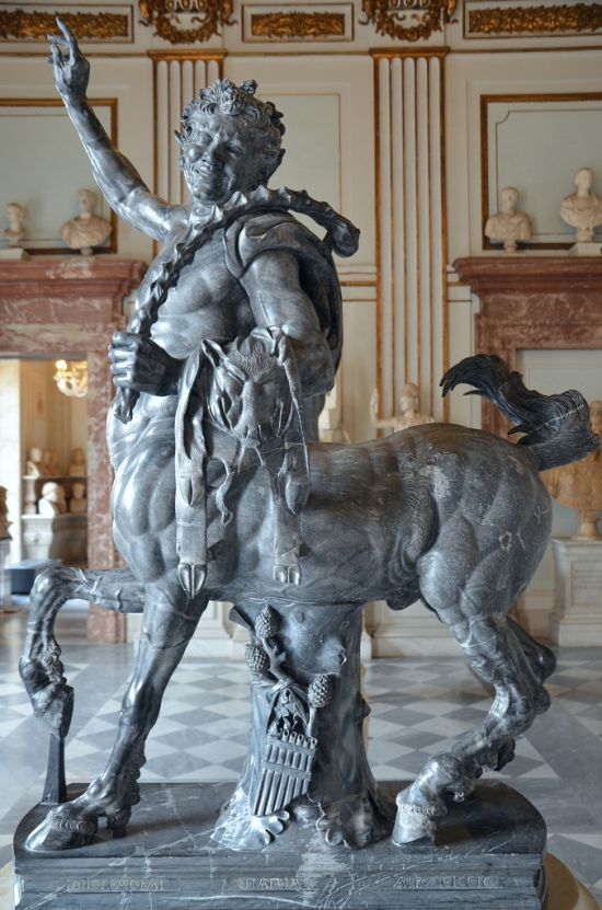 The Young Centaur, Hadrianic grey-black marble sculpture of a centaur based on Hellenistic models.