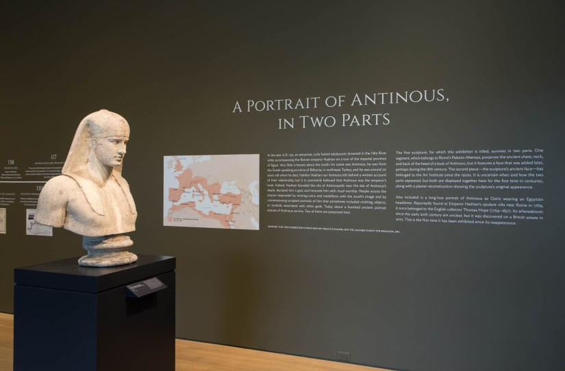 "View of the Art Institute of Chicago exhibition, ""A Portrait of Antinous, in Two Parts"". Credit photo: Art Institute of Chicago"
