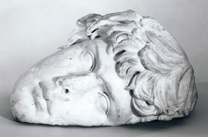 Photograph of Portrait Head of Antinous, early 1960s. Henry Geldzahler Papers, Yale University Collection of American Literature, Beinecke Rare Book and Manuscript Library.