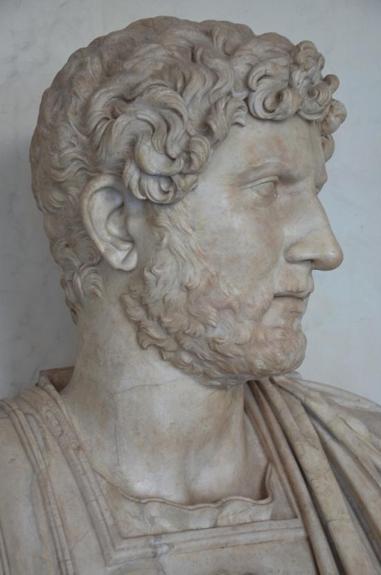 Bust of Hadrian, 117-121 AD, Type: Termini. Galleria degli Uffizi, Florence