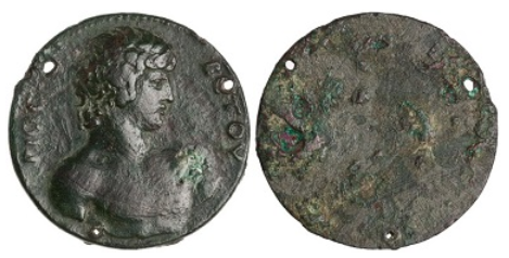 Bronze Coin, Mantineia, AD 130. Image: courtesy of the American Numismatic Society.
