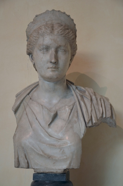 Portrait of Sabina (as Artemis?), wife of Hadrian, AD 130-140, from Rome, Musei Capitolini, Rome