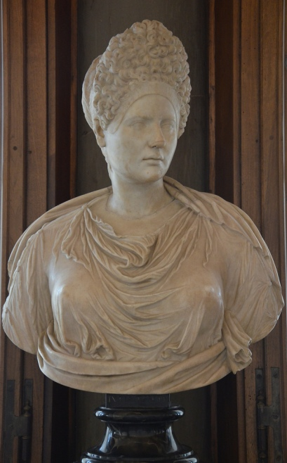Portrait of Vibia Sabina (?) with a Flavian hairstyle, Galleria degli Uffizi, Florence