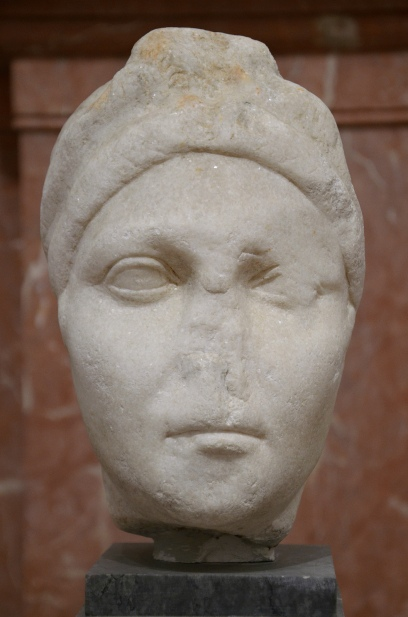 Portrait of empress Vibia Sabina found in Italica, Seville Archaeological Museum.