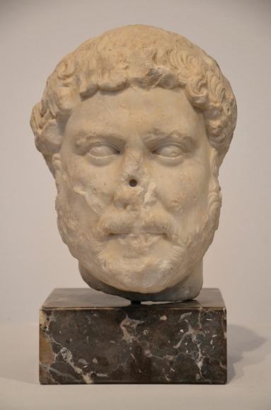 Head of Hadrian from Tarragone, Museu Nacional Arqueològic de Tarragona