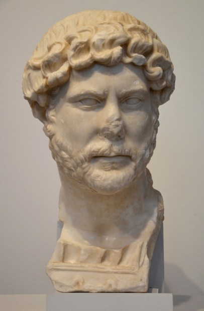 Marble bust of Hadrian found in 2014 near Yecla (Spain).
