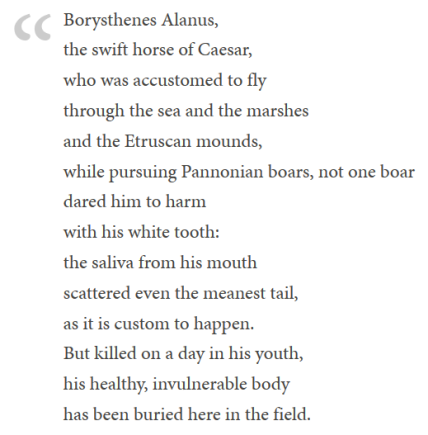 Epigraph Borysthenes, Translated from Latin to English by David Camden.