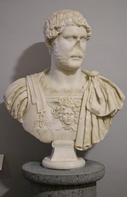 Bust of Hadrian from Castiglione della Pescaia (Serrata Martini), Museo Archeologico e d'Arte della Maremma, Grosseto, Tuscany, Italy