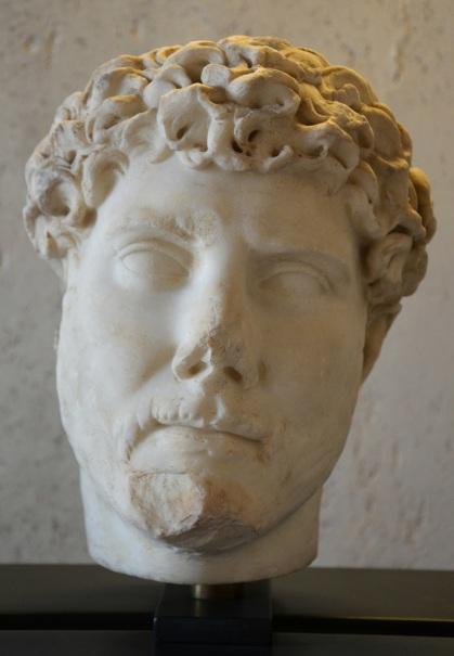 Head of Hadrian, Palazzo Trinci, Foligno, Italy