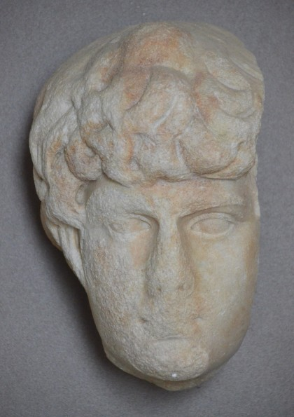 Portrait of Antinous, from Puteoli, Marble from Thasos, Museo Archeologico dei Campi Flegrei nel Castello di Baia, Italy